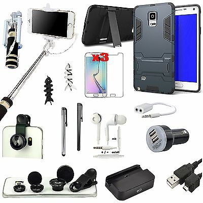 Black Kickstand Case Charger Fish Eye Monopod Accessory For Samsung Galaxy S5