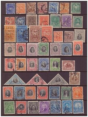 Ecuador 1865-1920 used stamps selection