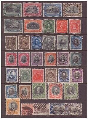 Chile 1910 - 1930 used stamps selection