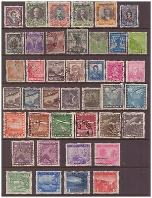 Chile 1928 - 1936 used stamps selection