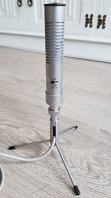 Bang and Olufson B&O Beomic BM6 ribbon mic microphone with table stand and cable