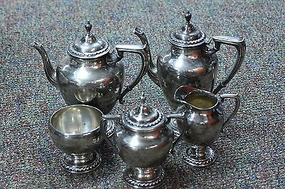 Vintage Wallace Halifax Sterling Silver 5 Piece Tea Coffee Set