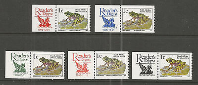 RSA South Africa - Frosch Frog with 5 Different Readers Digest Lable