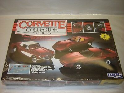 MPC 6381 CORVETTE COLLECTOR SERIES 3 Complete Kits 1/25 Model Kit Sealed