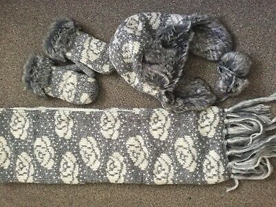 Bnwot Womens Grey Hat Scarf Glove Set From Bhs