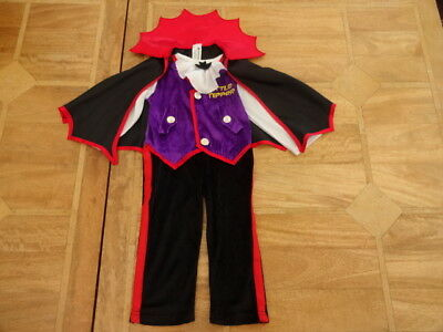 Morrisons Toddler Halloween Costume Baby Dracula Jumpsuit & Cape - Age 18-24m