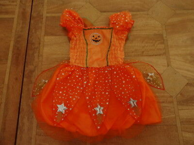 Tesco Toddler Halloween Costume Pumpkin Fairy Puffball Dress - Age 2-3 years
