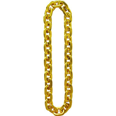 FAKE GOLD FAT ROPE CHAIN old school hip hop rapper pimp gangster costume bling