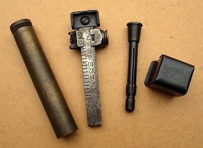 Parker Hale Lee Enfield SMLE rifle sight protector + oiler + rearsight