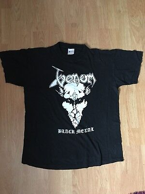 Venom T Shirt Size L Black Metal Bathory Iron Maiden Slayer Beherit Blasphemy