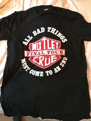 Motley Crue - The Final Tour 2015 Tshirt Large