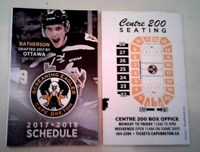 2017-18 Cape Breton Screaming Eagles QMJHL hockey schedule #1 Drake Batherson