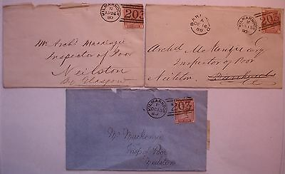 1d Venetian Red: 1880/81 Envelopes Kilmarnock to Neilston.