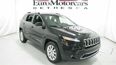 2016 Jeep Cherokee 4WD 4dr Limited 2016 jeep cherokee limited awd 4x4 navigation black used 3.2l v6 jeep
