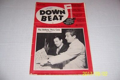 1954 Down Beat PERRY COMO Ray ANTHONY Peggy LEE Newport JAZZ Festival BELAFONTE