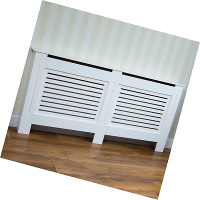 Home Discount Milton Radiator Cover White Modern Cabinet, Extra Large