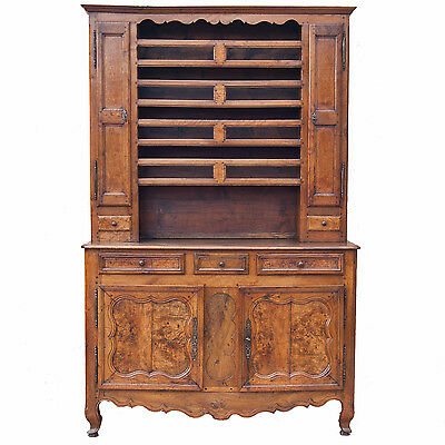 Early C19th French burr walnut dresser.    Ref  9575
