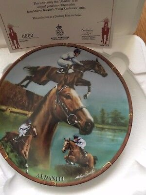 Aldaniti Famous Racehorse Plate Danbury Mint Royal Worcester With Certificate