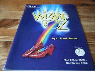 2003  -  Pantomime  Programme  - The  Wizard Of Oz -  At The Birmingham Rep  Vgc