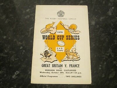 Great Britain v France World Cup Series @ Wheldon Road - Dated 1970