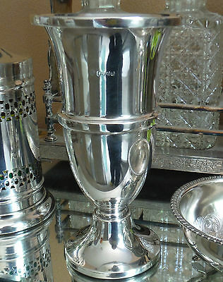 ART DECO SILVER PLATED VASE-JAMES DAVENPORT-c1920/30s    #