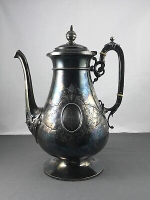 Antique Sterling Silver Coffee/ Tea Pot 934 Grams Rare