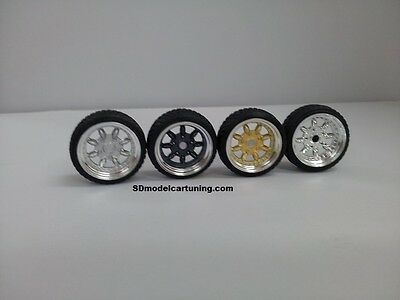 1:18 Scale MINILITE / SMOOR 15 INCH TUNING WHEELS,  NEW several color options!!