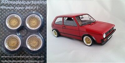 1:18 Scale BBS E50 14 INCH TUNING WHEEL SET!!  several color options!