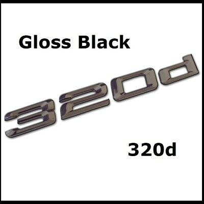 New Gloss Black 320d Rear Boot Badge Emblem Lettering Letters for BMW 320 320db