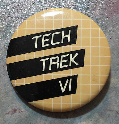 Tech Trek VI Advertising Pinback 1980s 2 1/8""