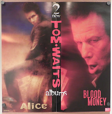 Tom Waits Alice Blood Money Record Store promo window/wall display