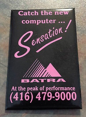 "Batra ""Catch The New Computer... Sensation!"" Advertising Pinback"