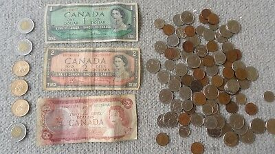 Canada Coins + Ottawa 1954 $1,1954 $2 1974 $2 Bank Note Money $22 Currency Cash