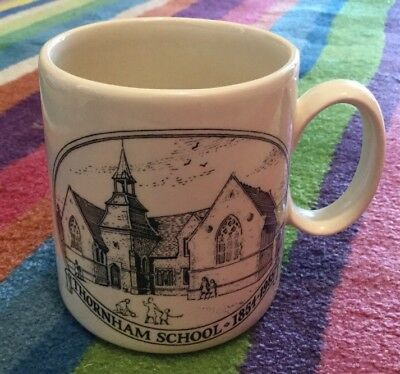 Holkham Pottery Thornham School myg in vgc