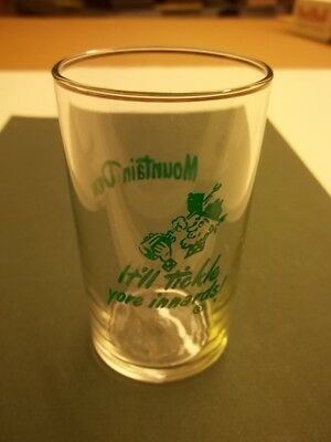 RARE Old Libbey It'll Tickle Yore Innards! Hillbilly Photo Mountain Dew Glass