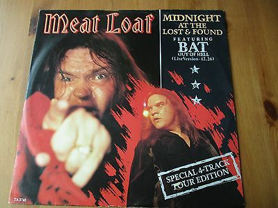 """RARE MEAT LOAF """"Midnight At The Lost And Found"""" 12"""" VINYL UK Epic 1983  Live"""