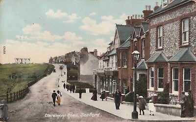 Early Postcard. Claremont Road.Seaford. (1905).