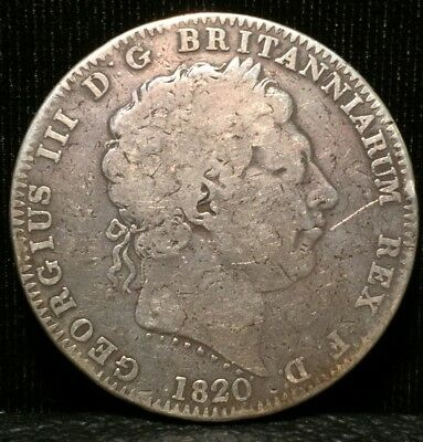 Great Brittan Silver Crown 1820 George III No Reserve Auction!!!!!!