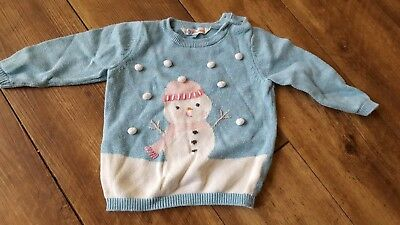 Girls John Lewis Christmas jumper 3-6 months