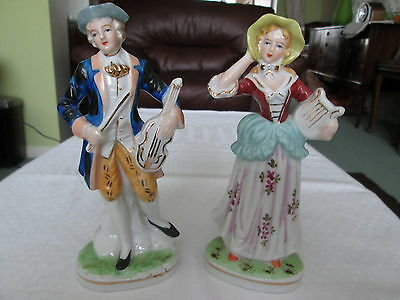 Matching Pair Of Antique Porcelain Figures