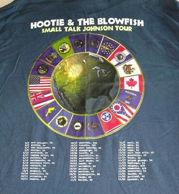 1996 Hootie and the Blowfish Small Talk Johnson Tour Band Concert Shirt