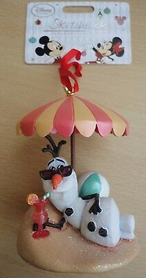 BNWT Disney Sketchbook Christmas Ornament Collection - Frozen OLAF Snowman 2014!