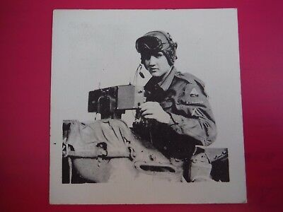 Rare Vintage Army Elvis Photo On Cork Paper 0N-Of-A-Kind---1958--On Top Of Jeep