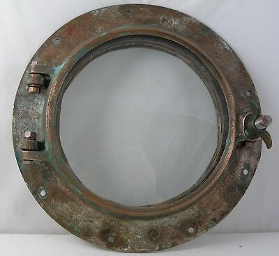Antique bronze porthole,  porthole nautical  Wilcox Crittenden WC #8 porthole