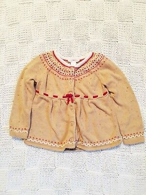 Size 3T Janie and Jack Girls Cardigan Sweater perfect for fall and winter