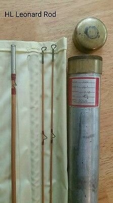 Vintage H.L. Leonard Fly Fishing Rod with Case