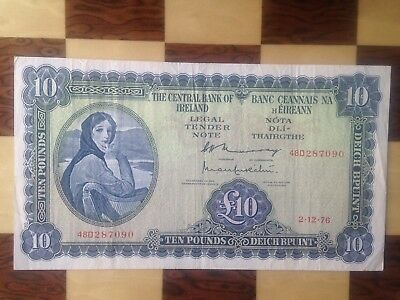 Central Bank Of Ireland 10 Pounds 1976