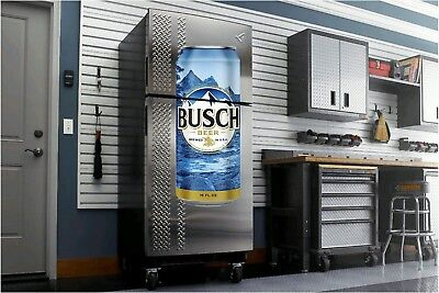 Busch Bud Beer fathead wall sticker 4' dorm room man cave refrigerator
