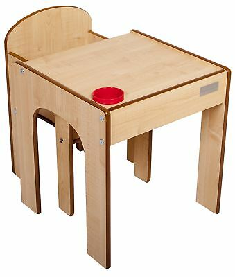 Little Helper FunStation Toddler Table and Chair Set (Maple)