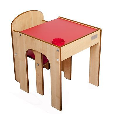 Little Helper FunStation Toddler Table and Chair Set (Red)
